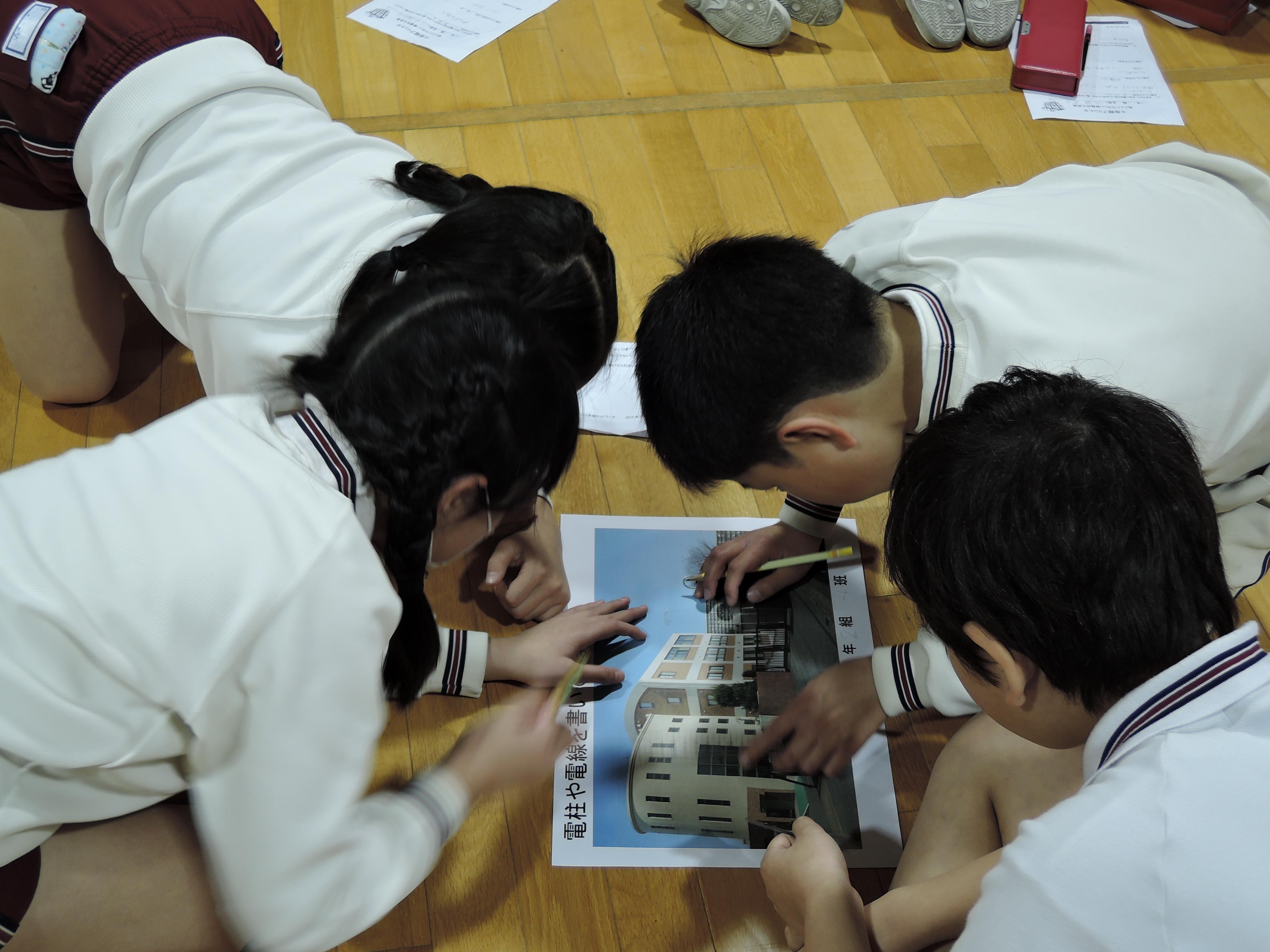 小学生向け「街と人にやさしい無電柱化授業」のイメージ